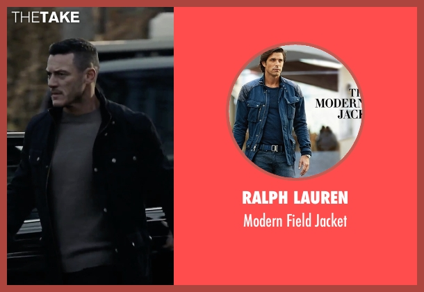Ralph Lauren black jacket from The Girl on the Train seen with Luke Evans (Scott Hipwell)