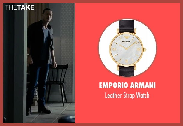 Emporio Armani black watch from The Girl on the Train seen with Luke Evans (Scott Hipwell)