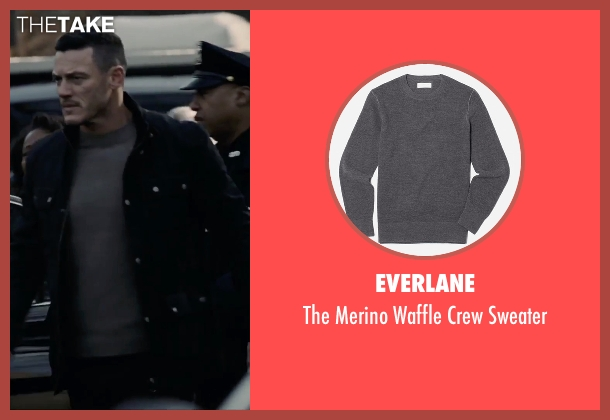 Everlane gray sweater from The Girl on the Train seen with Luke Evans (Scott Hipwell)