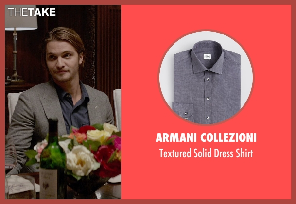 Armani Collezioni gray shirt from Fifty Shades of Grey seen with Luke Grimes (Elliot Grey)