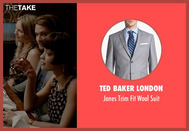 Ted Baker London gray suit from Fifty Shades of Grey seen with Luke Grimes (Elliot Grey)