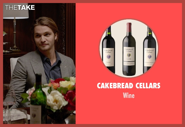 Cakebread Cellars wine from Fifty Shades of Grey seen with Luke Grimes (Elliot Grey)