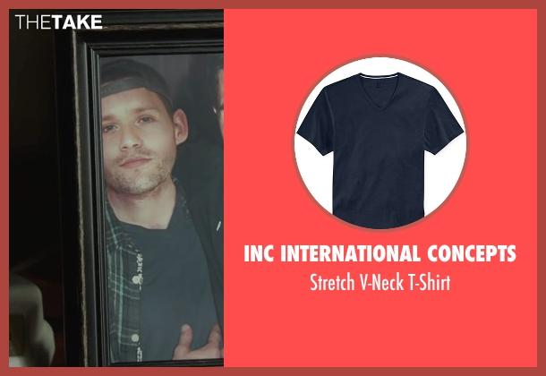 Inc International Concepts blue t-shirt from Max seen with Luke Kleintank (Tyler)