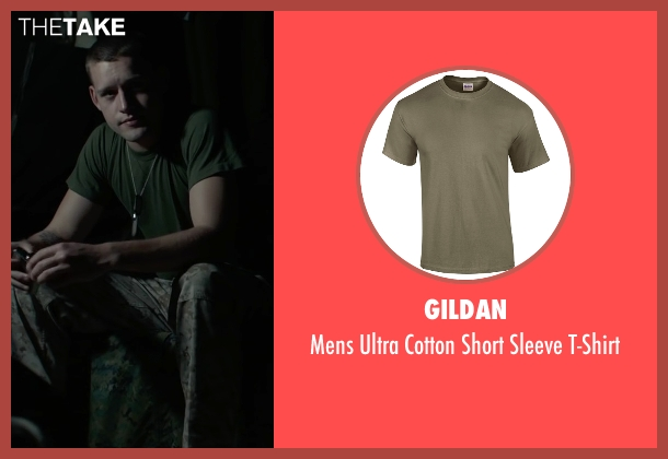 Gildan brown t-shirt from Max seen with Luke Kleintank (Tyler)