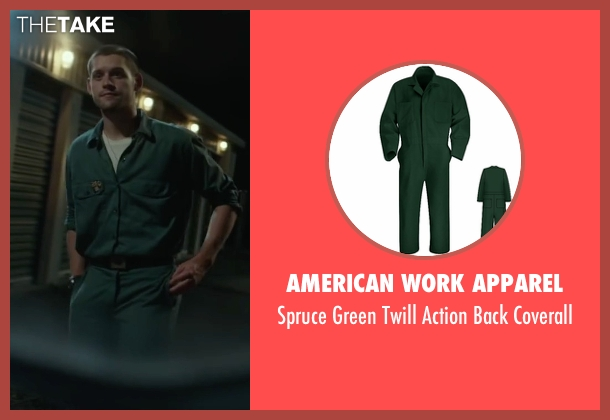 American Work Apparel green coverall from Max seen with Luke Kleintank (Tyler)
