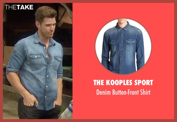 The Kooples Sport blue shirt from The Bachelorette seen with Luke