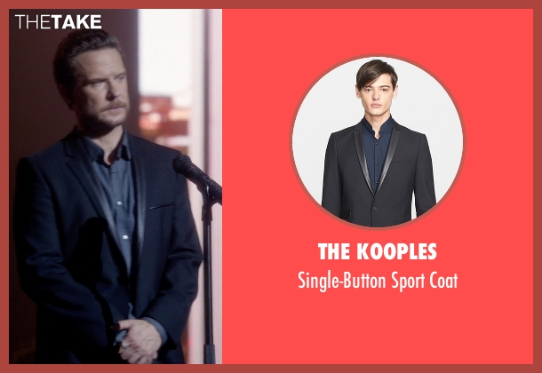 The Kooples black coat from Nashville seen with Luke Wheeler (Will Chase)
