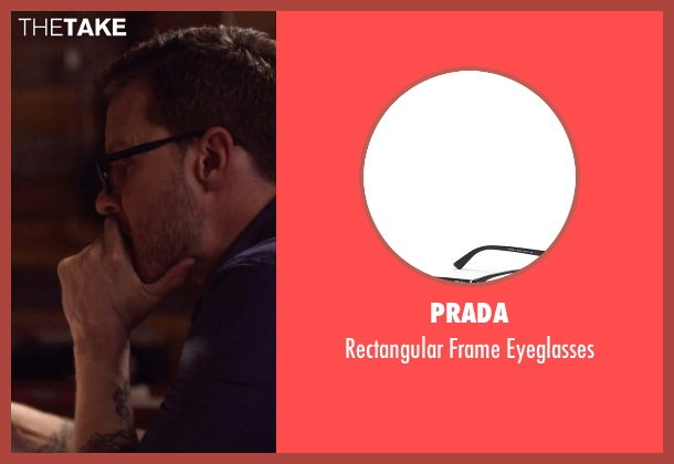 Prada black eyeglasses from Nashville seen with Luke Wheeler (Will Chase)
