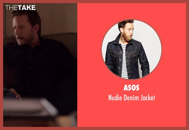 Asos blue jacket from Nashville seen with Luke Wheeler (Will Chase)