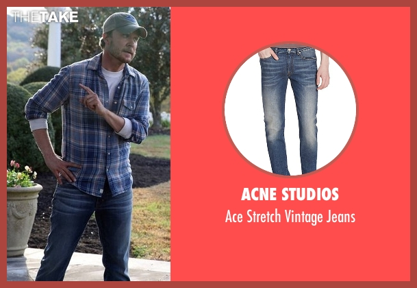 Acne Studios blue jeans from Nashville seen with Luke Wheeler (Will Chase)