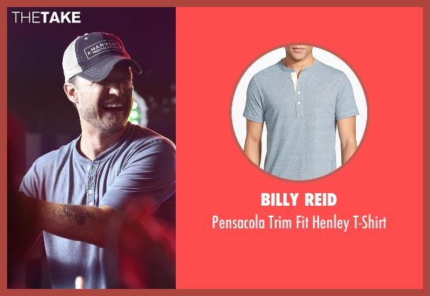Billy Reid blue t-shirt from Nashville seen with Luke Wheeler (Will Chase)