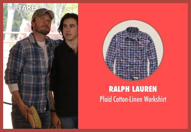 Ralph Lauren blue workshirt from Nashville seen with Luke Wheeler (Will Chase)