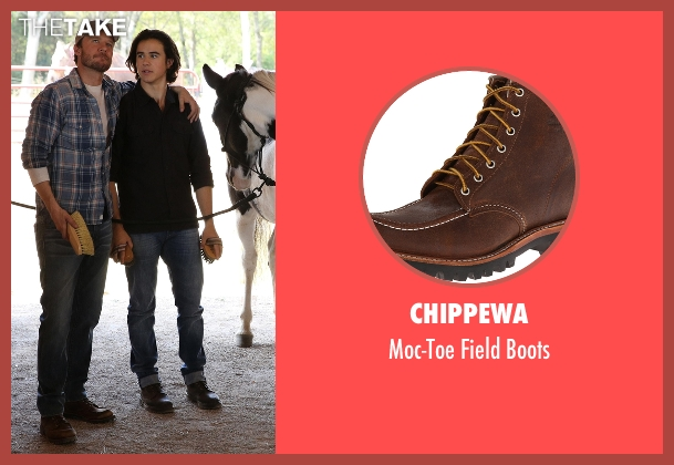 Chippewa brown boots from Nashville seen with Luke Wheeler (Will Chase)