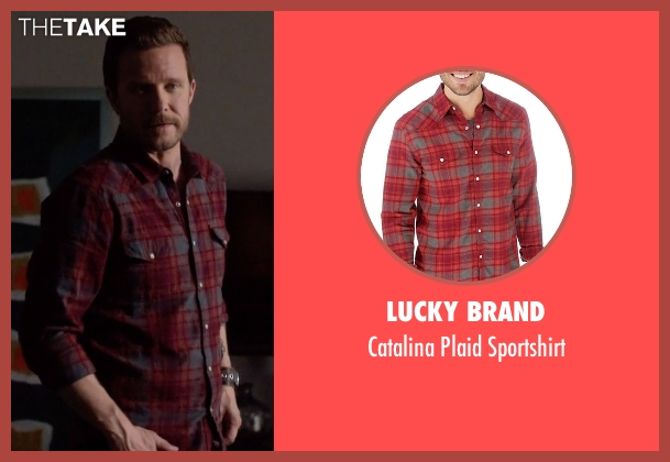 Lucky Brand red sportshirt from Nashville seen with Luke Wheeler (Will Chase)