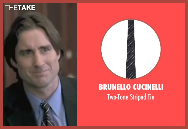 Brunello Cucinelli gray tie from Legally Blonde seen with Luke Wilson (Emmett)