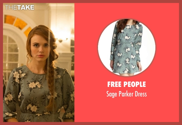 Free People blue dress from Teen Wolf seen with Lydia Martin (Holland Roden)