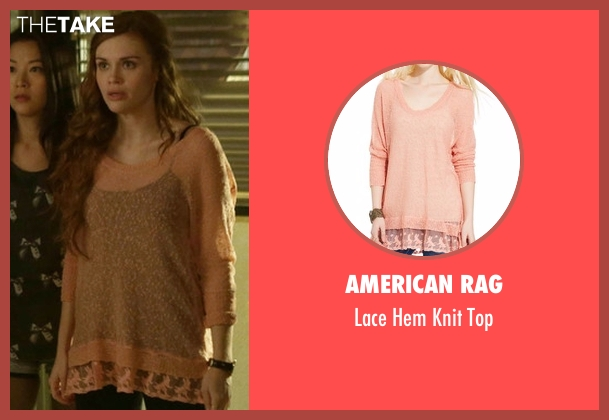 American Rag orange top from Teen Wolf seen with Lydia Martin (Holland Roden)