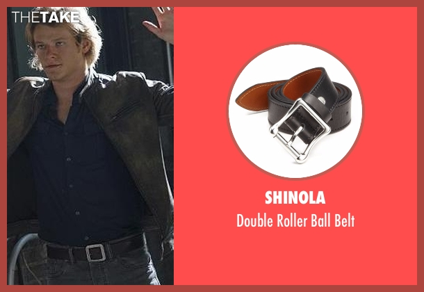 Shinola black belt from MacGyver seen with MacGyver (Lucas Till)