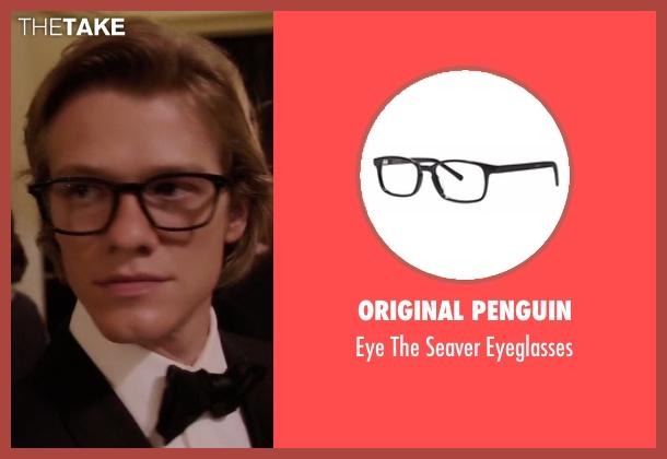 Original Penguin black eyeglasses from MacGyver seen with MacGyver (Lucas Till)