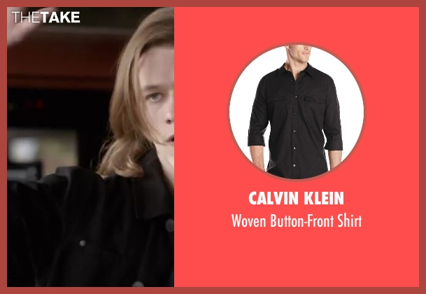 Calvin Klein black shirt from MacGyver seen with MacGyver (Lucas Till)