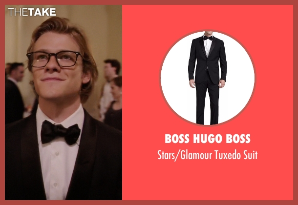 Boss Hugo Boss black suit from MacGyver seen with MacGyver (Lucas Till)