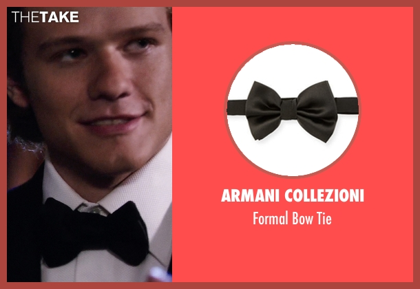 Armani Collezioni black tie from MacGyver seen with MacGyver (Lucas Till)