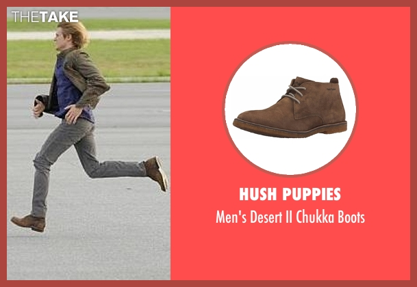 Hush Puppies brown boots from MacGyver seen with MacGyver (Lucas Till)