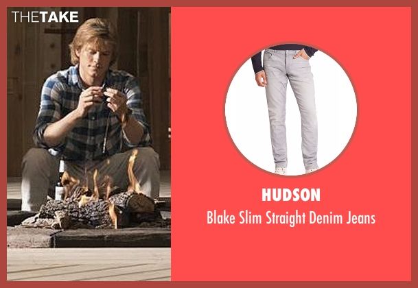 Hudson gray jeans from MacGyver seen with MacGyver (Lucas Till)