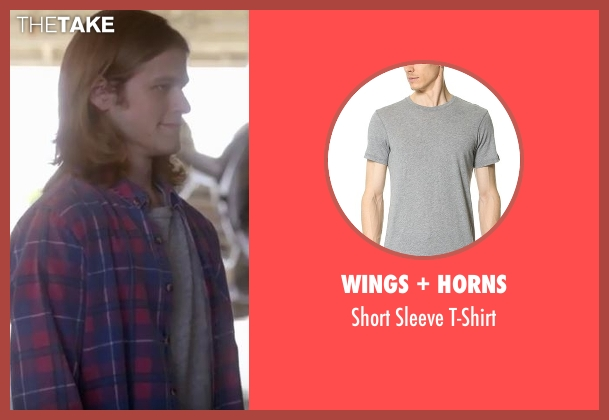 Wings + Horns gray t-shirt from MacGyver seen with MacGyver (Lucas Till)