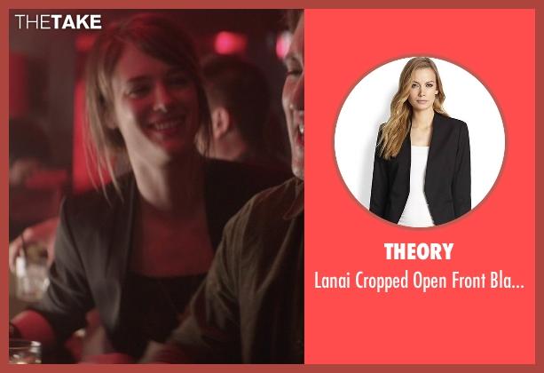 Theory black blazer from That Awkward Moment seen with Mackenzie Davis (Chelsea)