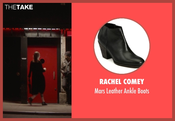 Rachel Comey black boots from That Awkward Moment seen with Mackenzie Davis (Chelsea)