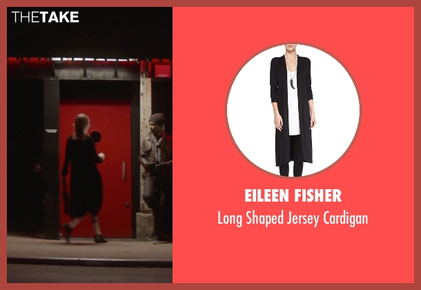 Eileen Fisher black cardigan from That Awkward Moment seen with Mackenzie Davis (Chelsea)