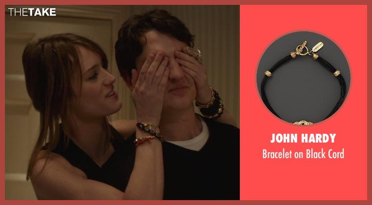 John Hardy black cord from That Awkward Moment seen with Mackenzie Davis (Chelsea)