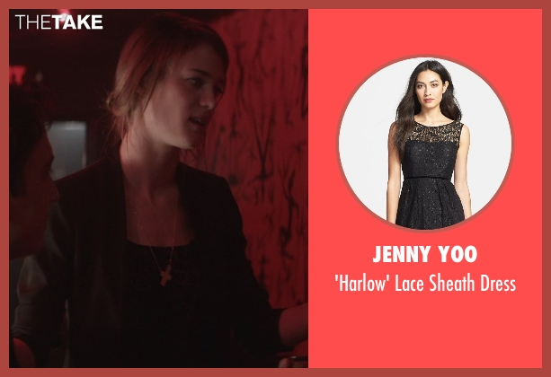 Jenny Yoo black dress from That Awkward Moment seen with Mackenzie Davis (Chelsea)