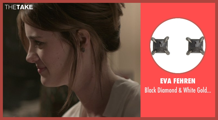 Eva Fehren black earrings from That Awkward Moment seen with Mackenzie Davis (Chelsea)