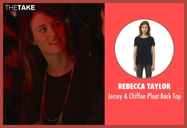Rebecca Taylor black top from That Awkward Moment seen with Mackenzie Davis (Chelsea)