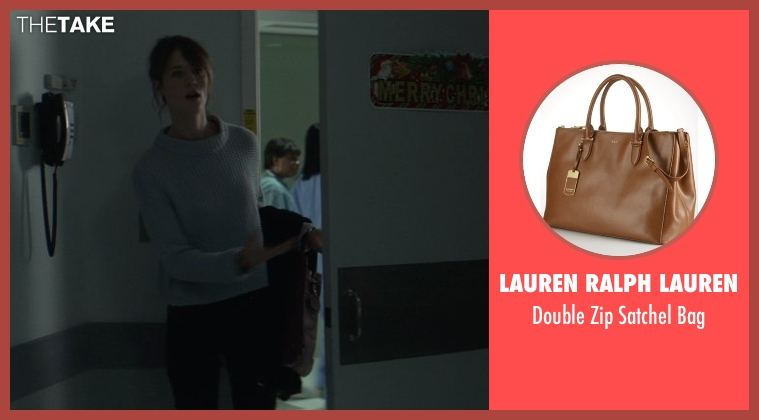 Lauren Ralph Lauren brown bag from That Awkward Moment seen with Mackenzie Davis (Chelsea)