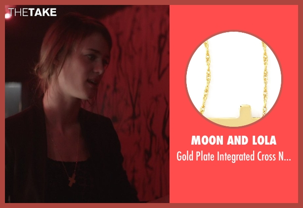 Moon and Lola gold necklace from That Awkward Moment seen with Mackenzie Davis (Chelsea)