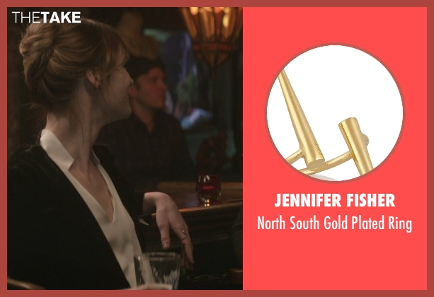 Jennifer Fisher gold ring from That Awkward Moment seen with Mackenzie Davis (Chelsea)