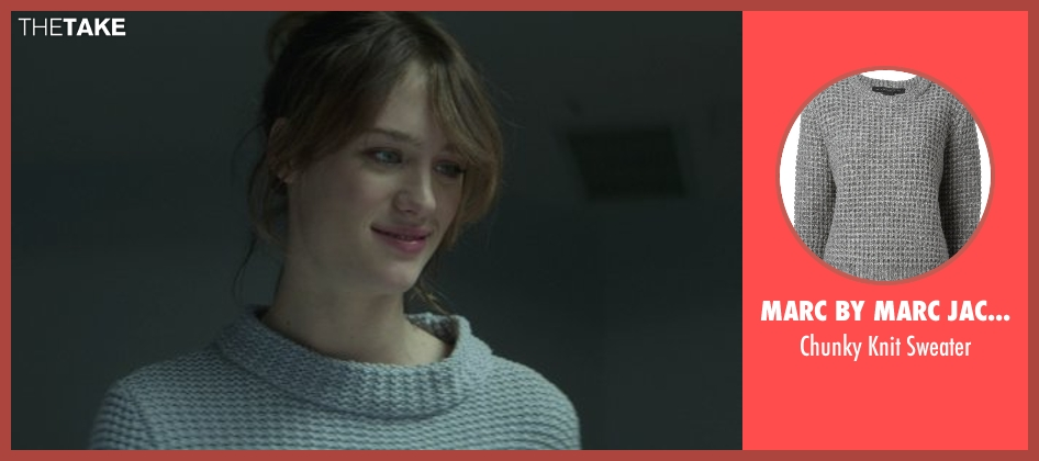 Marc By Marc Jacobs gray sweater from That Awkward Moment seen with Mackenzie Davis (Chelsea)