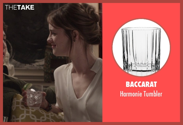 Baccarat tumbler from That Awkward Moment seen with Mackenzie Davis (Chelsea)
