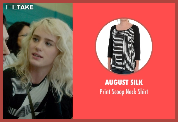 August Silk black shirt from What If seen with Mackenzie Davis (Nicole)