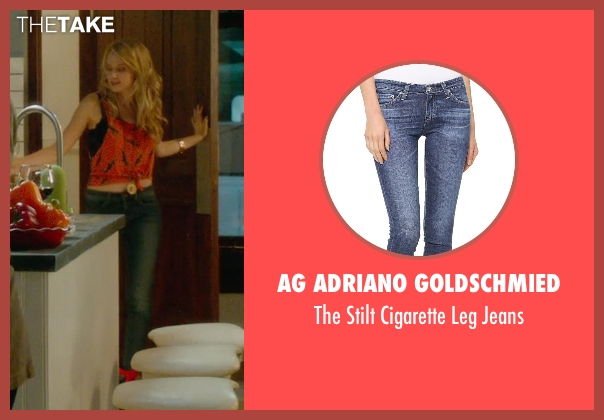 AG Adriano Goldschmied blue jeans from What If seen with Mackenzie Davis (Nicole)