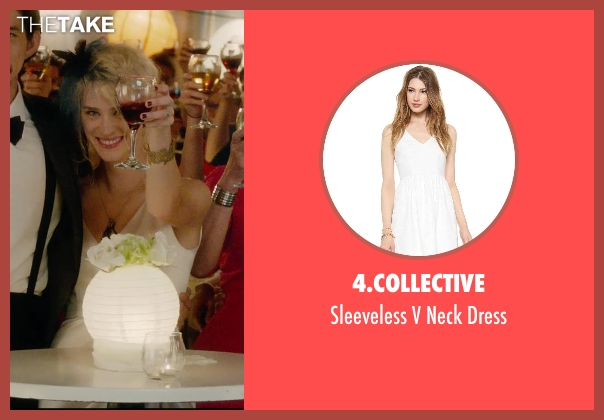 4.Collective white dress from What If seen with Mackenzie Davis (Nicole)