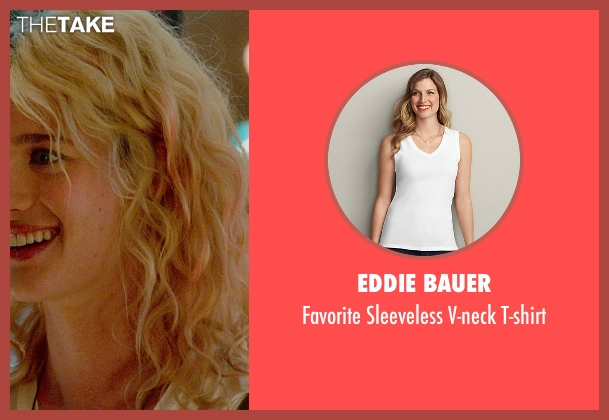 Eddie Bauer white t-shirt from What If seen with Mackenzie Davis (Nicole)