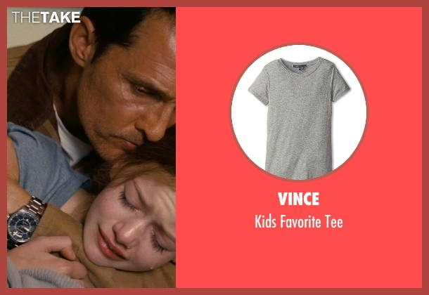 Vince gray tee from Interstellar seen with Mackenzie Foy (Young Murph)