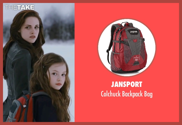 JanSport red bag from The Twilight Saga: Breaking Dawn - Part 2 seen with Mackenzie Foy (Renesmee)