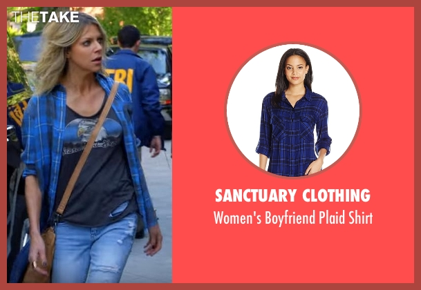Sanctuary Clothing blue shirt from The Mick seen with Mackenzie Murphy (Kaitlin Olson)