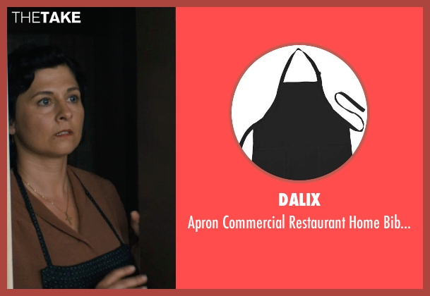 DALIX black aprons from Unbroken seen with Maddalena Ischiale (Louise Zamperini)