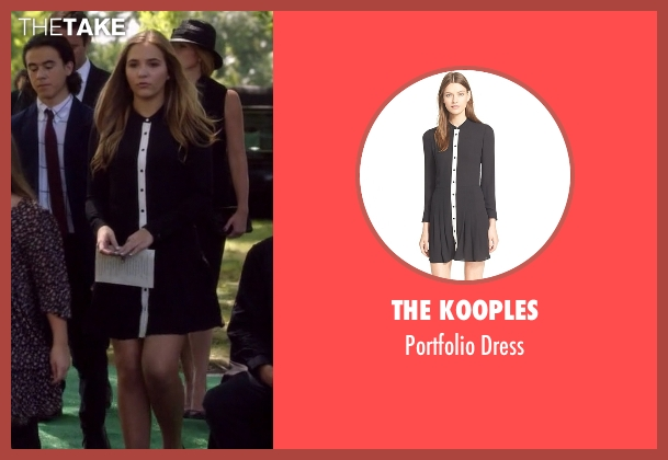 The Kooples black dress from Nashville seen with Maddie Conrad (Lennon Stella)